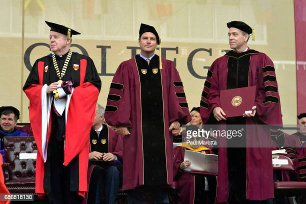 Actor Christopher O'Donnell received an Honorary Doctor of Humane Letters Degree at the Boston College 2017 141st Commencement Exercises at Boston...