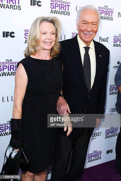 Actor Christopher Plummer and actress Elaine Taylor arrive at the 2012 Film Independent Spirit Awards at Santa Monica Pier on February 25 2012 in...