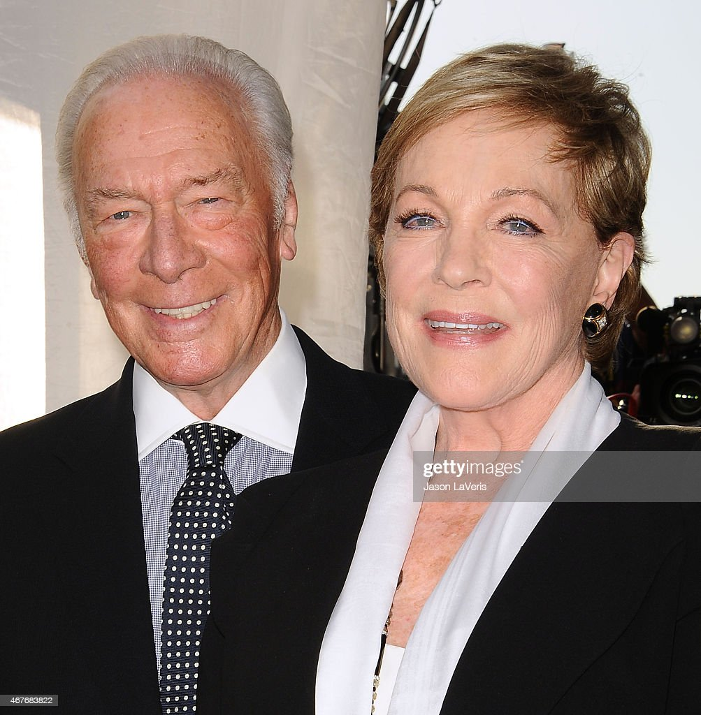 Actor Christopher Plummer and actress Julie Andrews attend the 2015 TCM Classic Film Festival opening night gala and the 50th anniversary of 'The Sound Of Music' at TCL Chinese Theatre IMAX on March 26, 2015 in Hollywood, California.