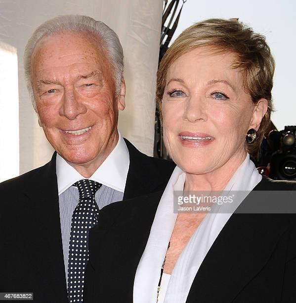 Actor Christopher Plummer and actress Julie Andrews attend the 2015 TCM Classic Film Festival opening night gala and the 50th anniversary of 'The...