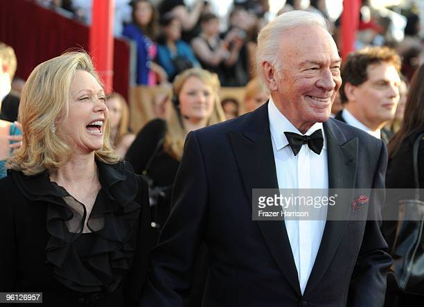 Actor Christopher Plummer and Elaine Taylor arrive at the 16th Annual Screen Actors Guild Awards held at the Shrine Auditorium on January 23 2010 in...