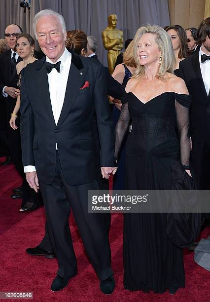 Actor Christopher Plummer and Elaine Taylor arrive at the Oscars at Hollywood Highland Center on February 24 2013 in Hollywood California