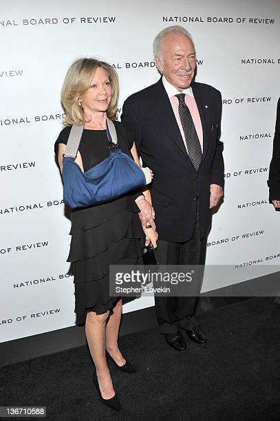 Actor Christopher Plummer and Elaine Taylor attend the 2011 National Board of Review Awards gala at Cipriani 42nd Street on January 10 2012 in New...