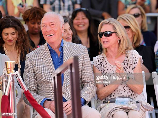 Actor Christopher Plummer and Elaine Taylor attend the Christopher Plummer Hand and Footprint Ceremony during the 2015 TCM Classic Film Festival on...