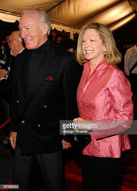Actor Christopher Plummer and guest attends The 32nd Annual Toronto International Film Festival Closing The Ring Premiere at Roy Thomson Hall on...