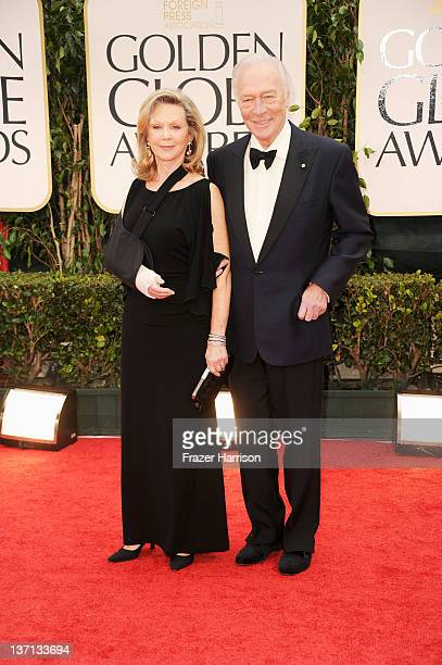 Actor Christopher Plummer and his wife Elaine Taylor arrive at the 69th Annual Golden Globe Awards held at the Beverly Hilton Hotel on January 15...