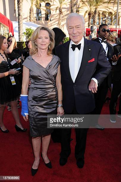 Actor Christopher Plummer and his wife Elaine Taylor attend The 18th Annual Screen Actors Guild Awards broadcast on TNT/TBS at The Shrine Auditorium...