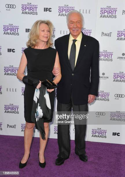 Actor Christopher Plummer and wife Elaine Taylor arrive at the 2012 Film Independent Spirit Awards at Santa Monica Pier on February 25 2012 in Santa...