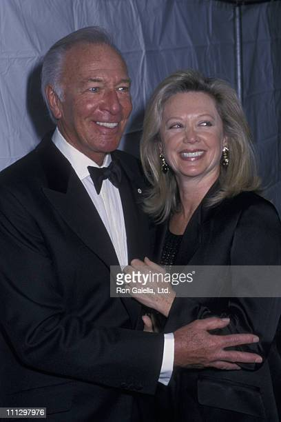 Actor Christopher Plummer and wife Elaine Taylor attend Julliard School Gala Honoring Richard Rogers on February 4 2002 at the Julliard School in New...