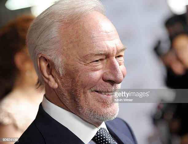 Actor Christopher Plummer arrives at the AFI FEST 2009 screening of Sony Pictures Classics' The Imaginarium of Doctor Parnassus at the Chinese...