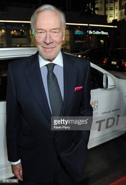 """Actor Christopher Plummer arrives at """"The Imaginarium Of Doctor Parnassus"""" AFI Fest 2009 premiere in an Audi TDI at Grauman's Chinese Theatre on..."""