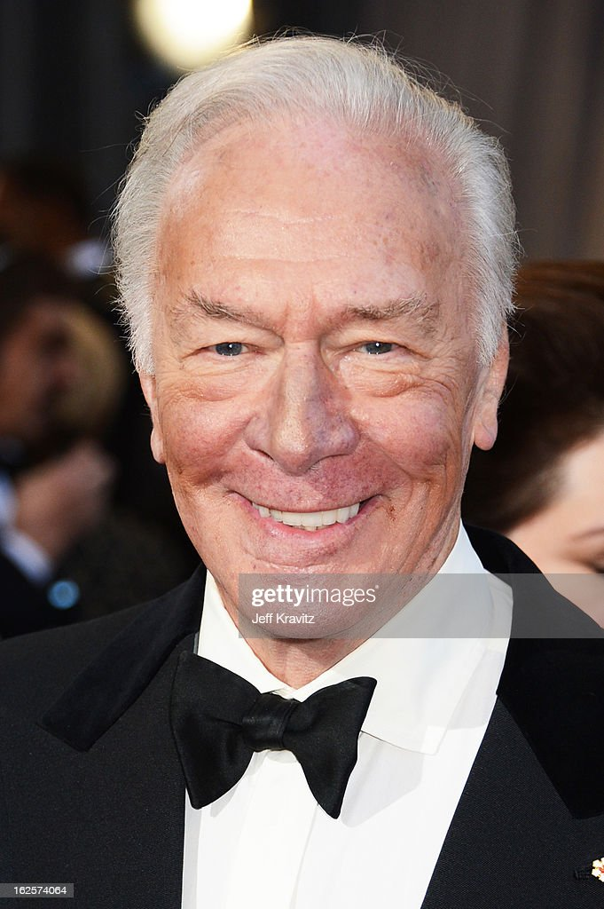 Actor Christopher Plummer arrives at the Oscars at Hollywood & Highland Center on February 24, 2013 in Hollywood, California.