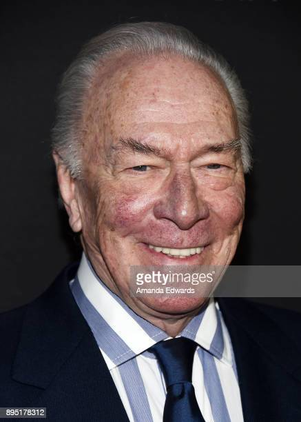 Actor Christopher Plummer arrives at the premiere of Sony Pictures Entertainment's 'All The Money In The World' at the Samuel Goldwyn Theater on...