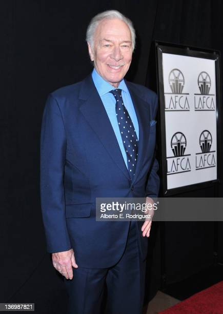 Actor Christopher Plummer arrives to the 37th Annual Los Angeles Film Critics Association Awards at InterContinental Hotel on January 13 2012 in...