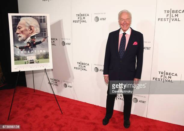 Actor Christopher Plummer attends as ATT presents the US premiere of 'The Exception' at the BMCC Tribeca Performing Arts Center on on April 26 2017...