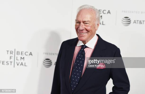 Actor Christopher Plummer attends as ATT presents the US premiere of The Exception at the BMCC Tribeca Performing Arts Center on on April 26 2017 in...