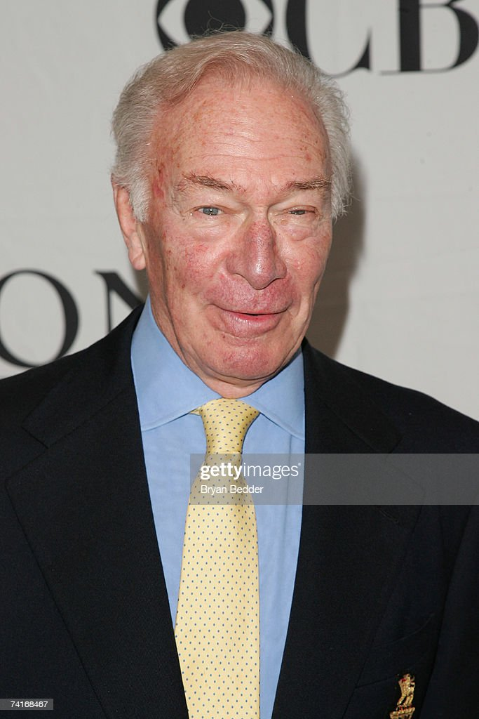 Actor Christopher Plummer attends the 2007 Tony Awards nominees press reception at the Marriott Marquis on May 16, 2007 in New York City.