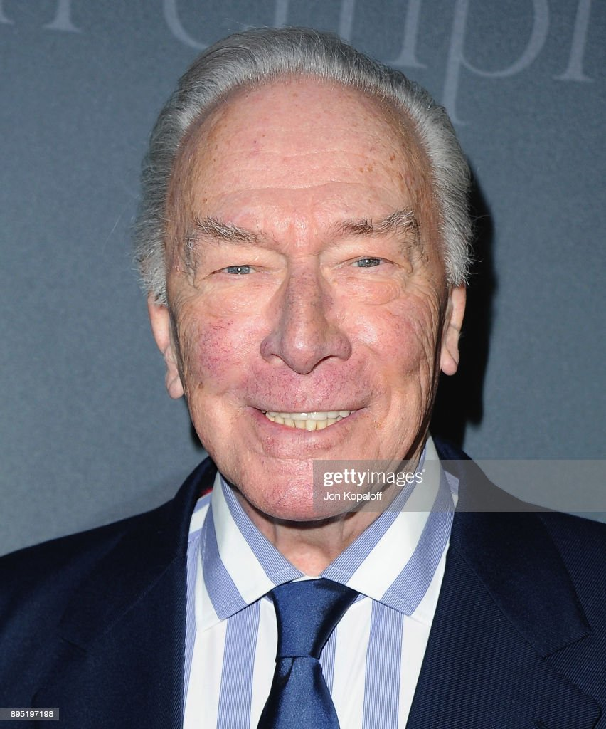 Actor Christopher Plummer attends the Los Angeles Premiere 'All The Money In The World' at Samuel Goldwyn Theater on December 18, 2017 in Beverly Hills, California.