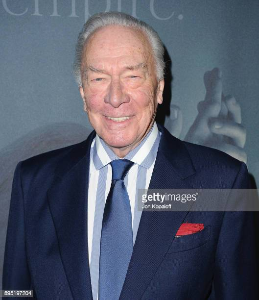 Actor Christopher Plummer attends the Los Angeles Premiere 'All The Money In The World' at Samuel Goldwyn Theater on December 18 2017 in Beverly...