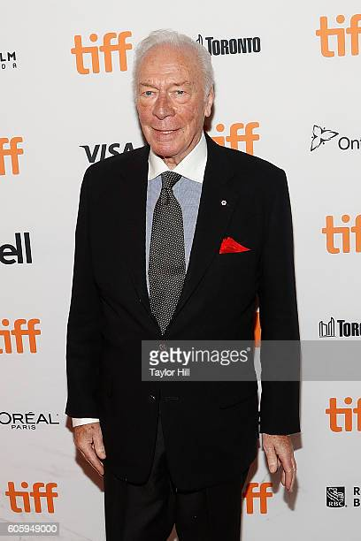 Actor Christopher Plummer attends the premiere of 'The Exception' during the 2016 Toronto International Film Festival at Winter Garden Theatre on...