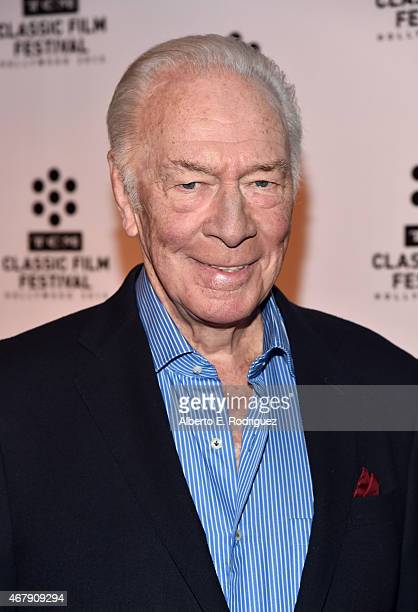 Actor Christopher Plummer attends the screening of 'The Man Who Would Be King' during day three of the 2015 TCM Classic Film Festival on March 28...