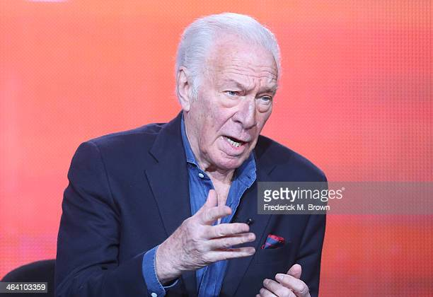 """Actor Christopher Plummer speaks onstage during the ' Great Performances/""""Barrymore"""" ' panel discussion at the PBS portion of the 2014 Winter..."""