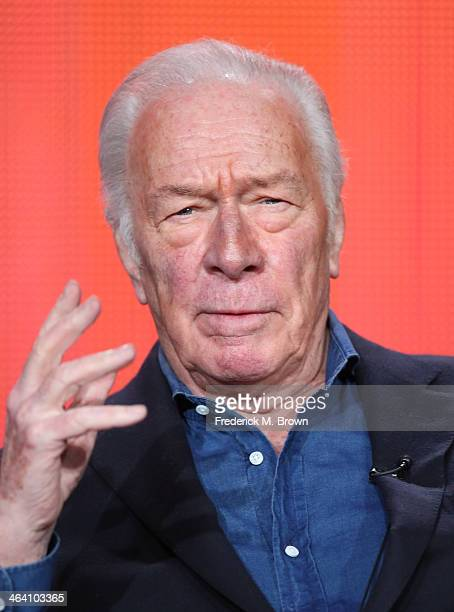 Actor Christopher Plummer speaks onstage during the ' Great Performances/'Barrymore' ' panel discussion at the PBS portion of the 2014 Winter...