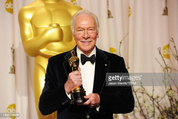 Actor Christopher Plummer winner of the Best Supporting Actor Award for 'Beginners' poses in the press room at the 84th Annual Academy Awards held at...