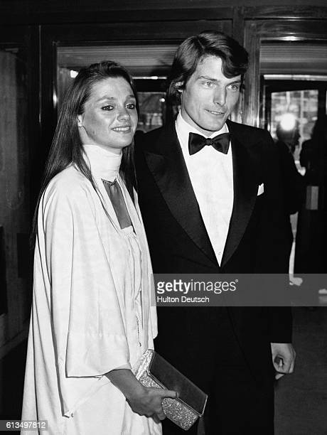 Actor Christopher Reeve and Gae Exton at the Wembley Conference Centre where Reeve receive the award for most promising newcomer at the BAFTA's for...