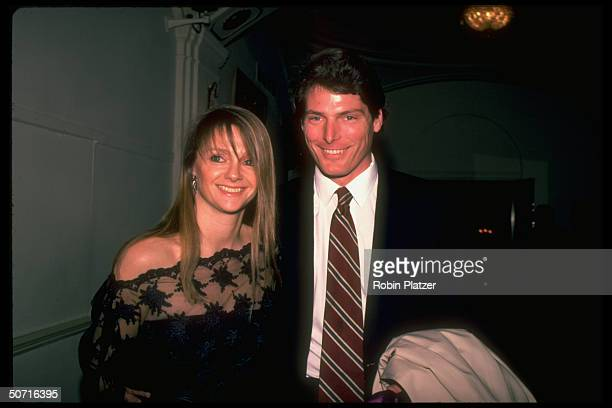 Actor Christopher Reeve and girlfriend Gae Exton