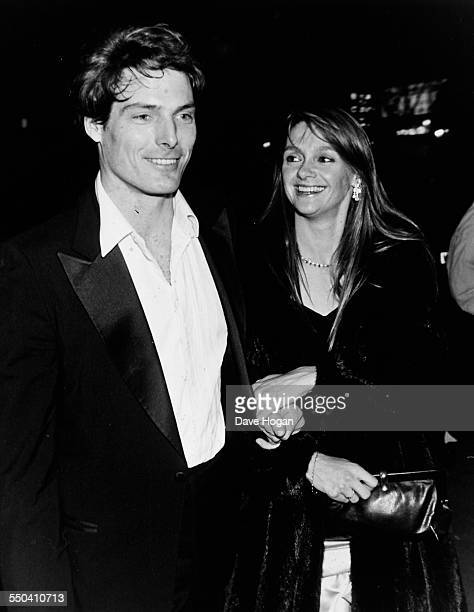 Actor Christopher Reeve and his girlfriend Gae Exton attending a charity event in aid of homelessness at Cafe de Paris in London December 18th 1986