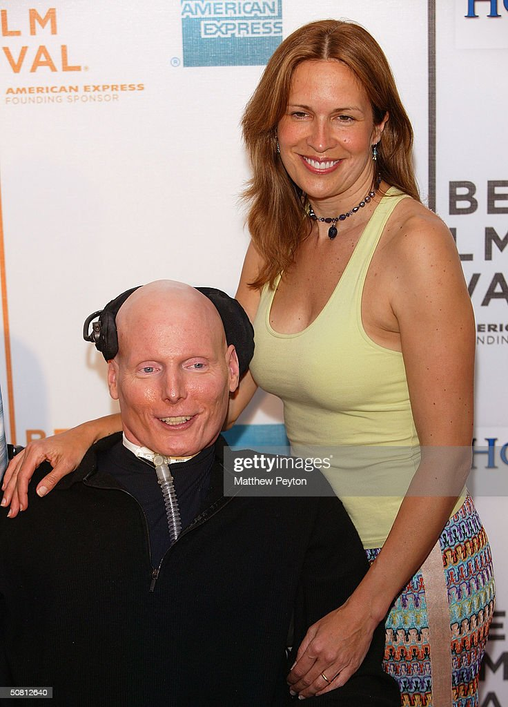 Actor Christopher Reeve and his wife Dana arrives at the screening of 'House Of D' during the 2004 Tribeca Film Festival May 7, 2004 in New York City.