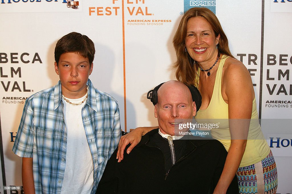 Actor Christopher Reeve, his wife Dana and son Will arrives at the screening of 'House Of D' during the 2004 Tribeca Film Festival May 7, 2004 in New York City.
