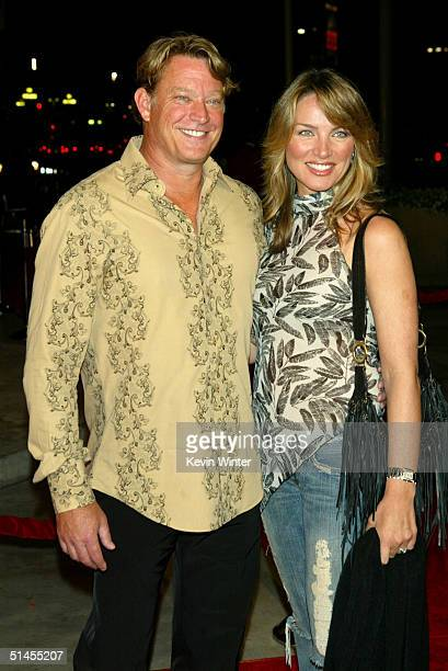 Actor Christopher Rich and wife arrive at CBS' Ray Charles Tribute Concert at the Staples Center on October 8 2004 in Los Angeles California