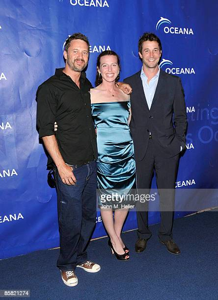 Actor Christopher Rydell actor Tanna Frederick and actor Noah Wyle attend the 2009 Project Save Our Surf 1st Annual Surfathon and Oceana Awards at...
