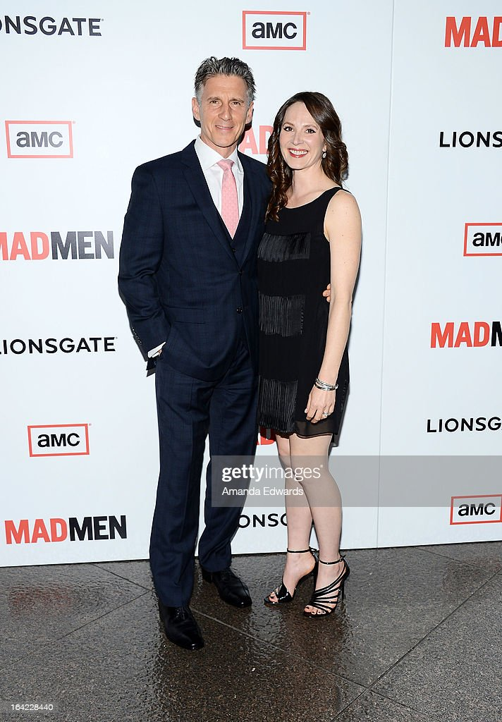 Actor Christopher Stanley (L) and his wife Kim Stanley arrive at AMC's 'Mad Men' Season 6 Premiere at the DGA Theater on March 20, 2013 in Los Angeles, California.