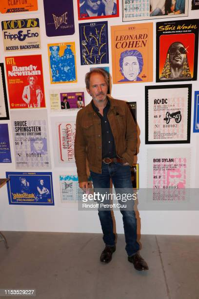 Actor Christopher Thompson attends Albert Koski exposes its Rock&Roll Posters Collection at Galerie Laurent Godin on June 03, 2019 in Paris, France.