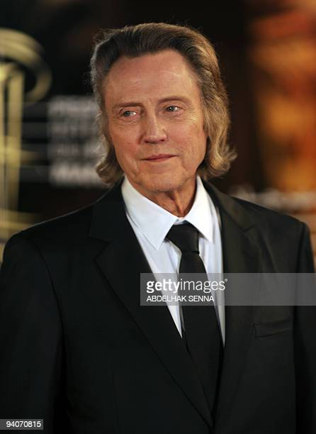 US actor Christopher Walken arrives for a ceremony where he received a tribute for his career at the 9th edition of the Marrakech International Film...