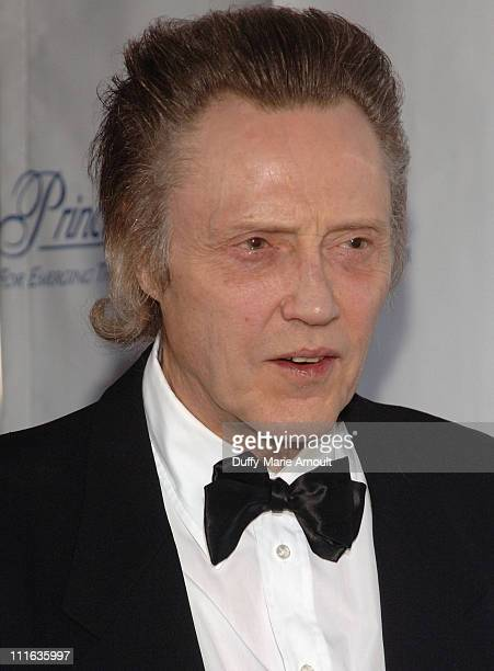 Actor Christopher Walken attends the 2008 Princess Grace awards gala at Cipriani 42nd Street on October 15 2008 in New York City