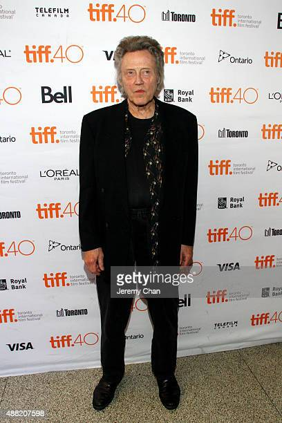 Actor Christopher Walken attends 'The Family Fang' premiere during the 2015 Toronto International Film Festival at the Winter Garden Theatre on...