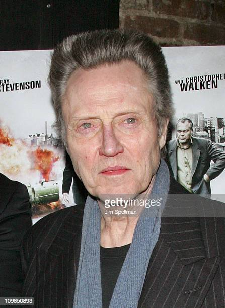 Actor Christopher Walken attends the Kill the Irishman premiere after party at Puck Fair Bar on March 7 2011 in New York City