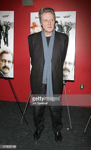 Actor Christopher Walken attends the premiere of Kill the Irishman at Landmark's Sunshine Cinema on March 7 2011 in New York City