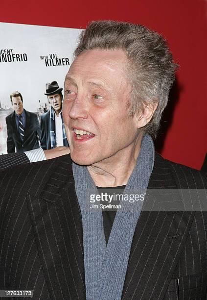 Actor Christopher Walken attends the premiere of 'Kill the Irishman' at Landmark's Sunshine Cinema on March 7 2011 in New York City