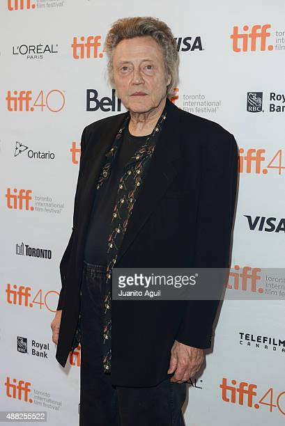 Actor Christopher Walken attends the premiere of 'The Family Fang' at the Winter Garden Theatre on September 14 2015 in Toronto Canada