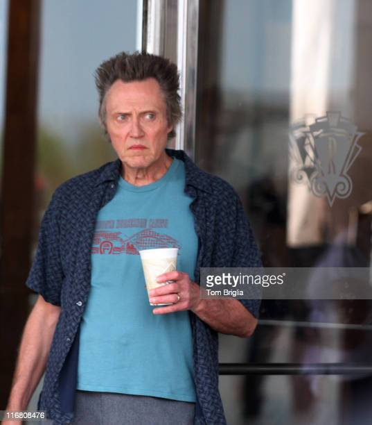 Actor Christopher Walken filming a new movie called 'Five Dollars A Day' directed by Nigel Cole on October 9 2007 in Atlantic City