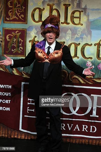 Actor Christopher Walken performs a skit during the Hasty Pudding Man of the Year awards February 15 2008 in Cambridge Massachusetts Each year the...