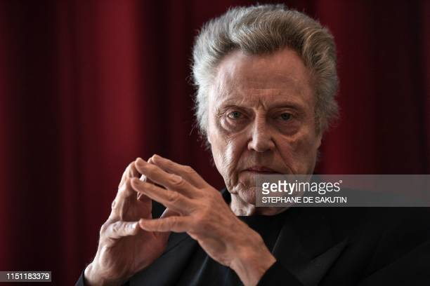 TOPSHOT US actor Christopher Walken poses during a photo session on June 21 2019 in Paris