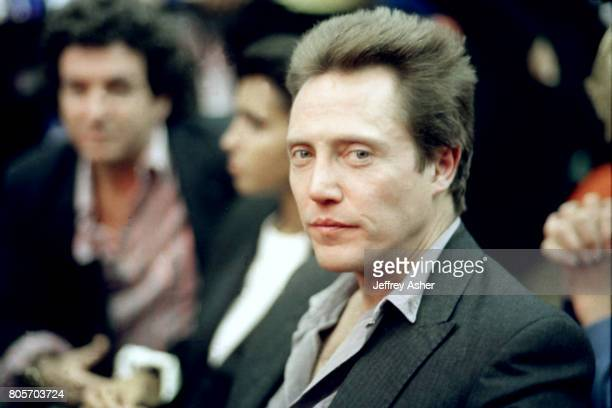 Actor Christopher Walken ringside at Tyson vs Holmes Convention Hall in Atlantic City New Jersey January 22 1988