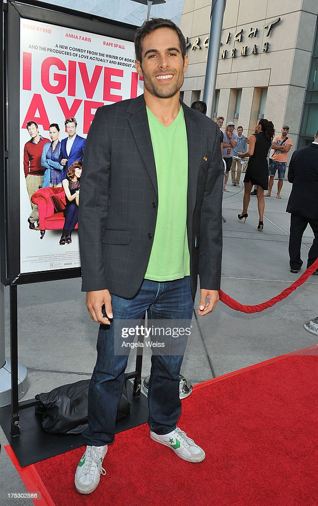 Actor Christopher Wolfe arrives at the Screening of Magnolia Pictures' 'I Give It A Year' at ArcLight Hollywood on August 1, 2013 in Hollywood, California.