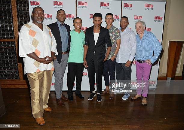Actor Chuck Cooper,Grantham Coleman, Nicholas Ashe, Jeremy Pope, Kyle Beltran, Wallace Smith, and Austin Pendleton attends the opening night party...